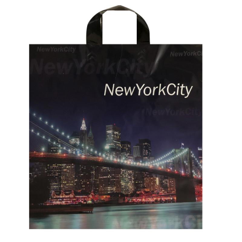 """Пакет подарочный """"Нью-Йорк"""" 40*40см, 1шт"""