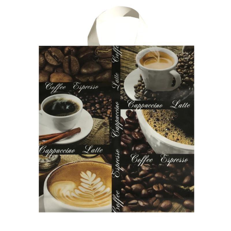 """Пакет подарочный """"Чашка кофе"""" 40*40см, 1шт"""