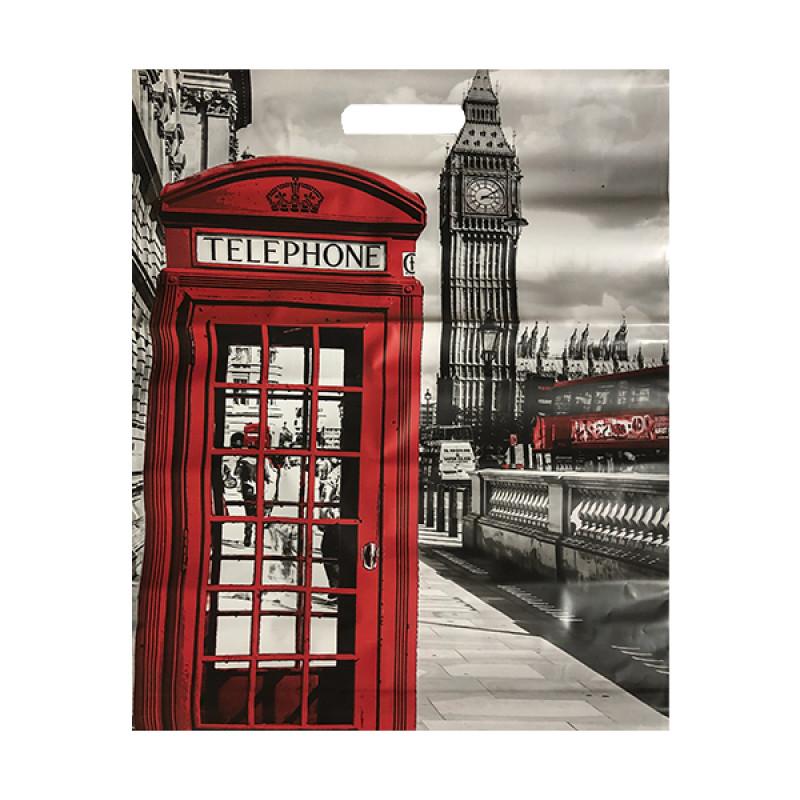 """Пакет подарочный """"Лондон"""" 41*51см, 1шт"""