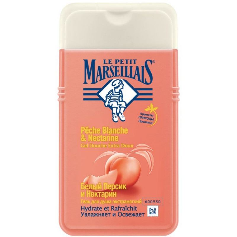 """Гель для душа с ароматом белого персика и нектарина """"Le Petit Marseillais"""", 250мл"""