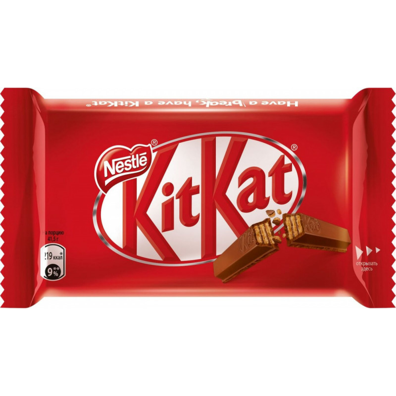 "Батончик шоколадный4 пальца ""KitKat"", 41. 5гр"