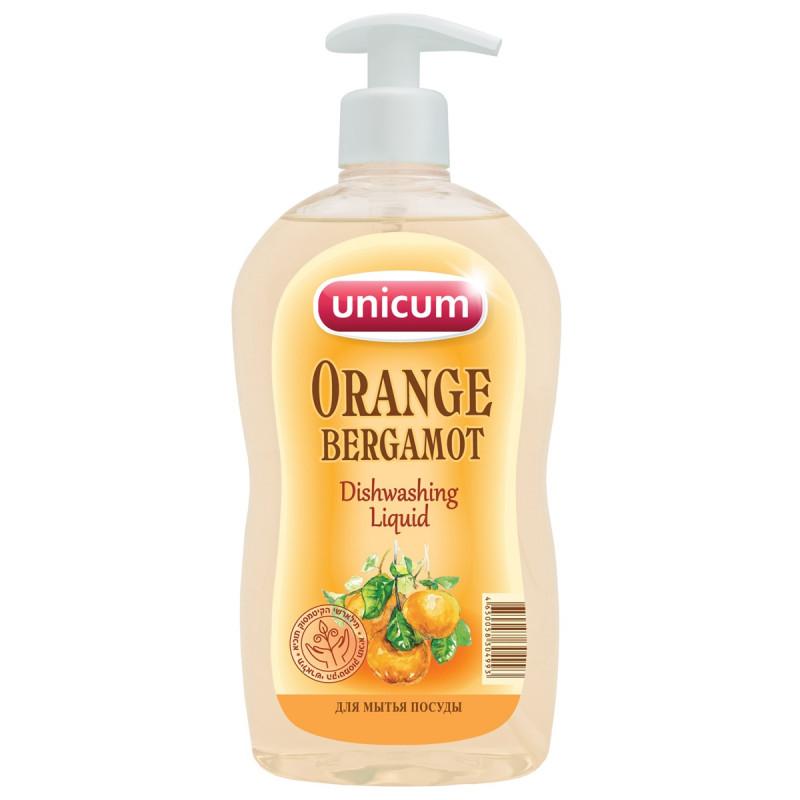 """Средство для мытья посуды с ароматом апельсина и бергамота """"UNICUM"""", 550мл"""