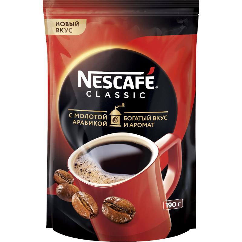 NESCAFE CLASSIC, растворимый кофе с добавлением натурального жар