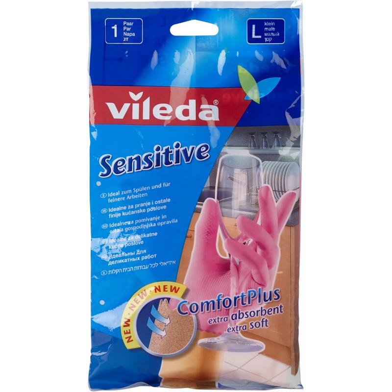 """Перчатки для деликатных работ размер L sensitive """"Vileda"""", 1шт"""