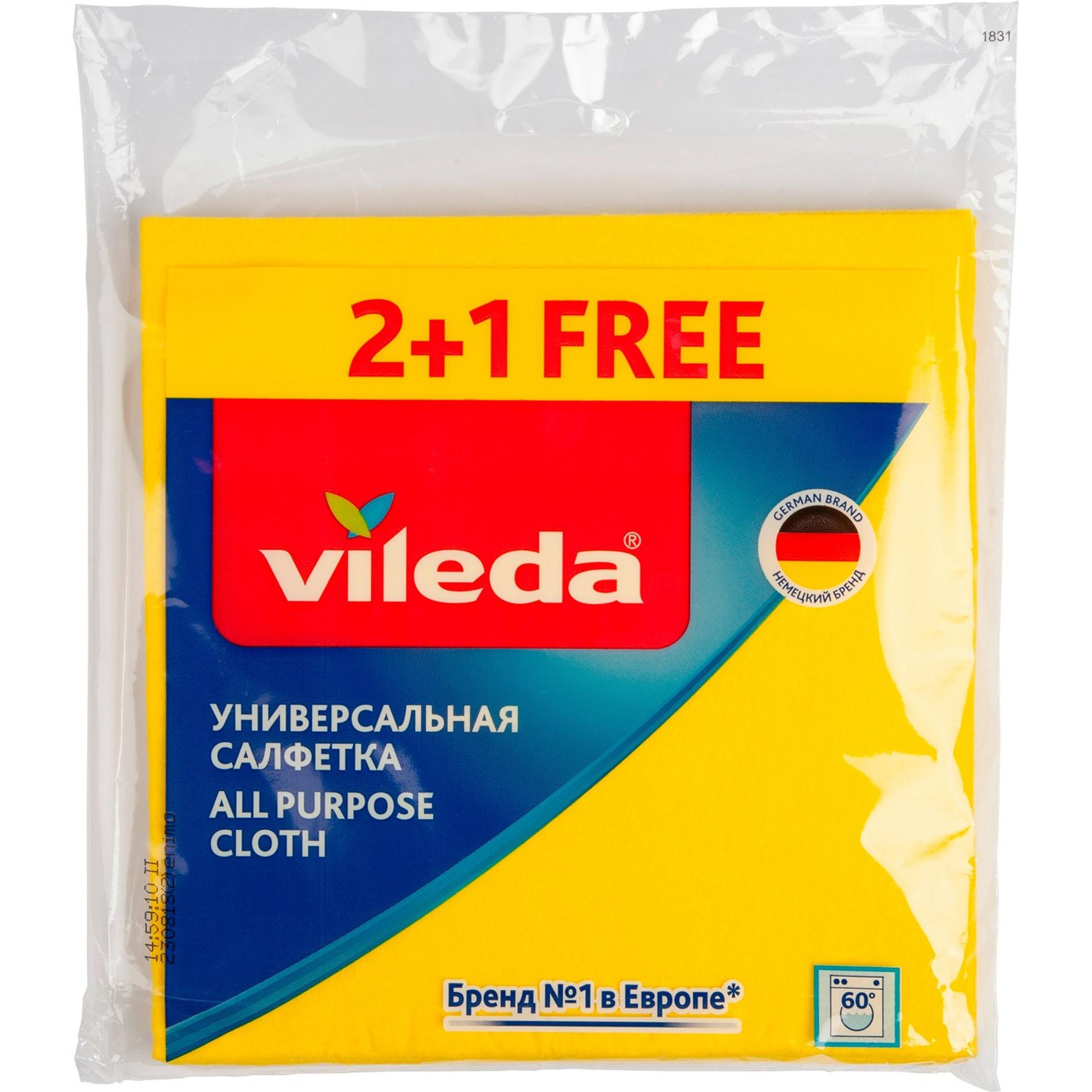 """Салфетка универсальная вискозная """"Vileda"""", 2+1шт"""