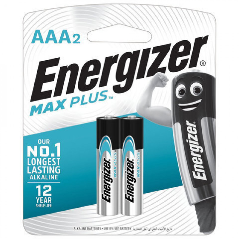 "Батарейки Max Plus AAA/E92 BP2 ""ENERGIZER"", 2шт"