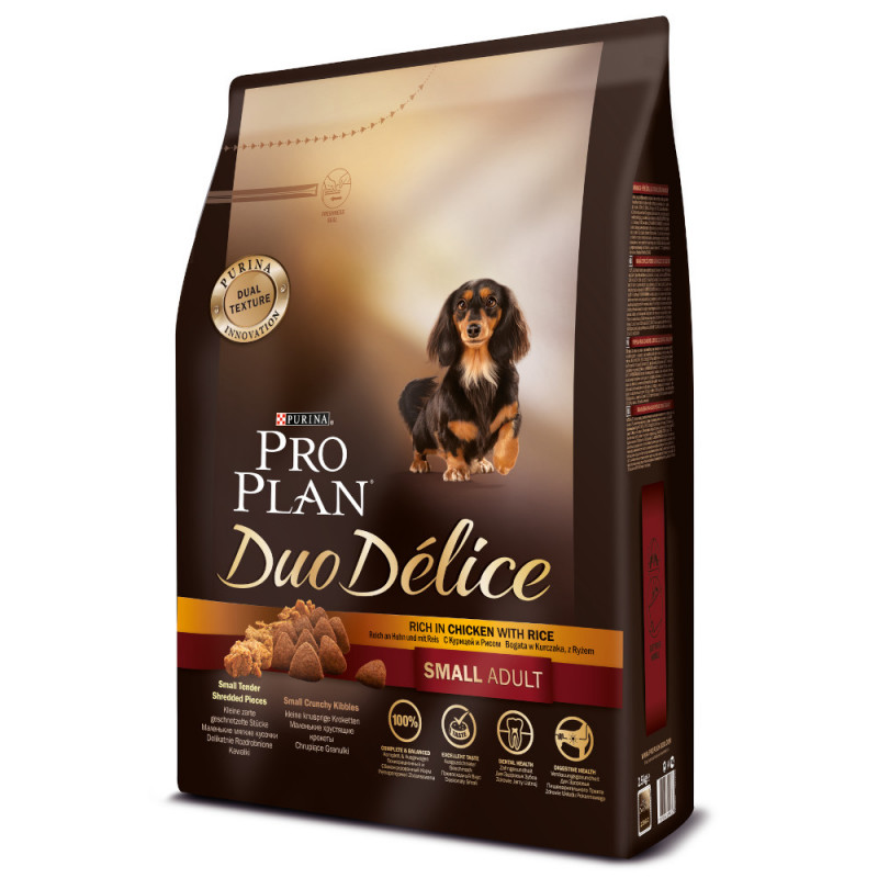 Сухой корм Pro Plan Duo Delice для собак мелких пород, с лососем и рисом, 2, 5 кг