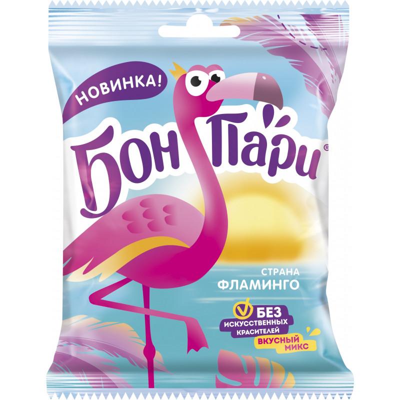 "Жевательный мармелад Бон Пари ""Страна фламинго"", со вкусом фруктов, 100 гр"