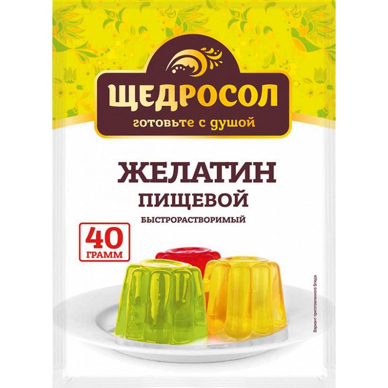 Желатин пищевой, Щедросол, 40 гр