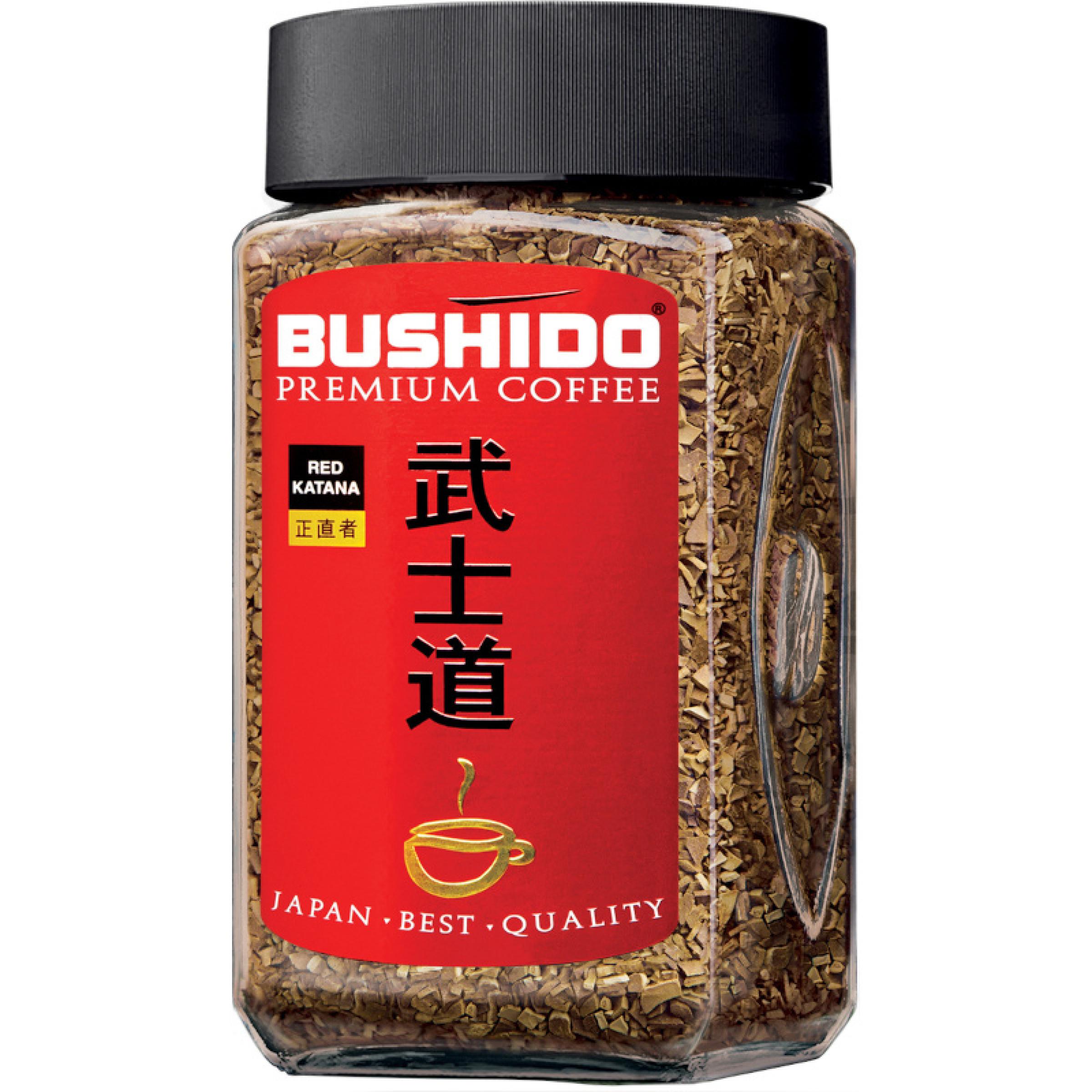Кофе Bushido Red Katana растворимый, 100 гр