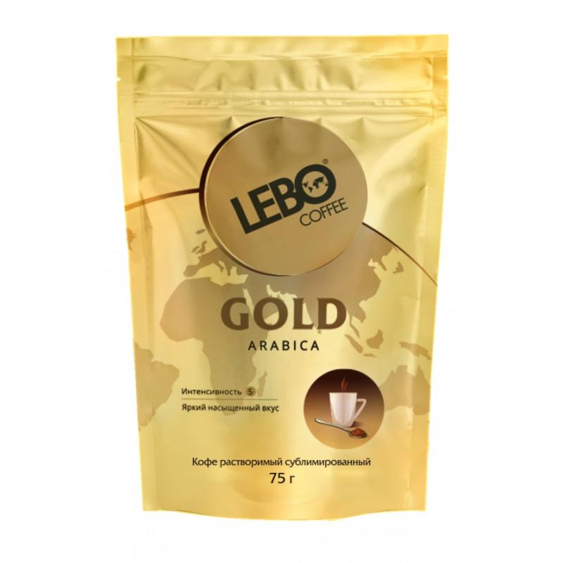 """Кофе """"LEBO GOLD"""" растворимый сублимированный, 75 гр"""