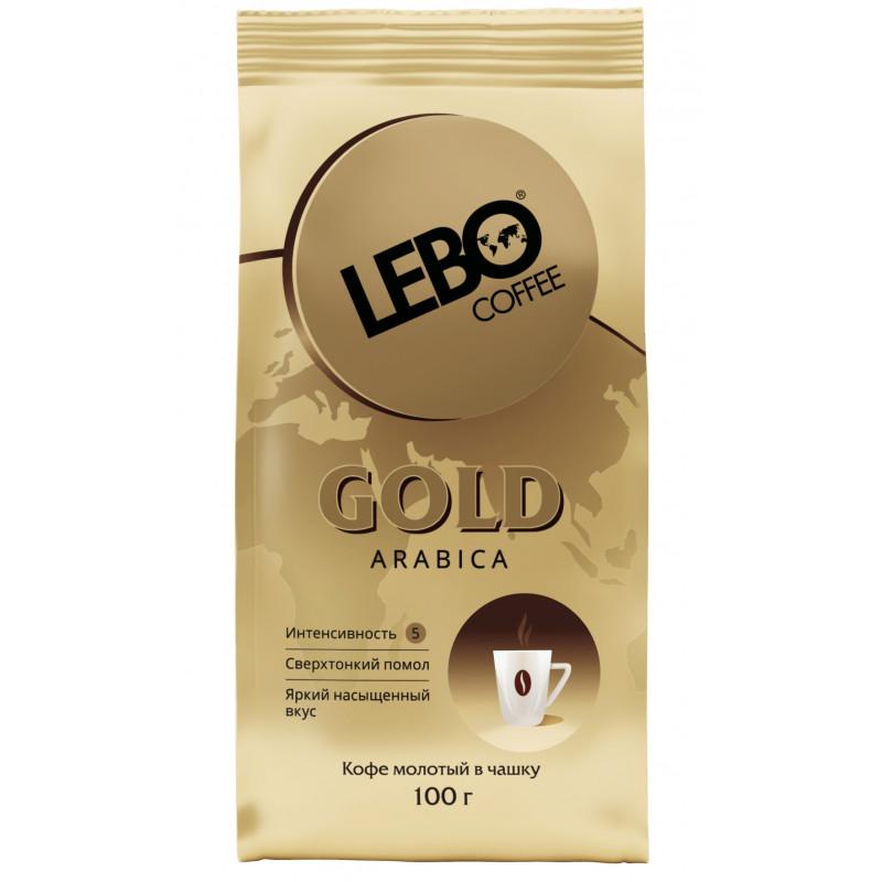 """Кофе """"LEBO GOLD"""" молотый для заваривания в чашке, 100 гр"""