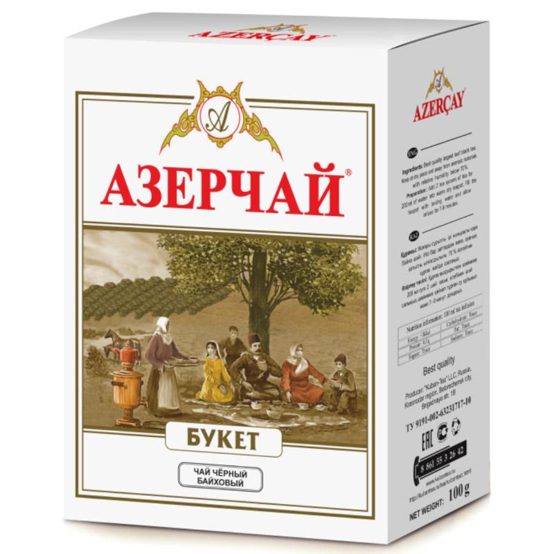 Чай черный Азерчай Букет листовой, 100 гр