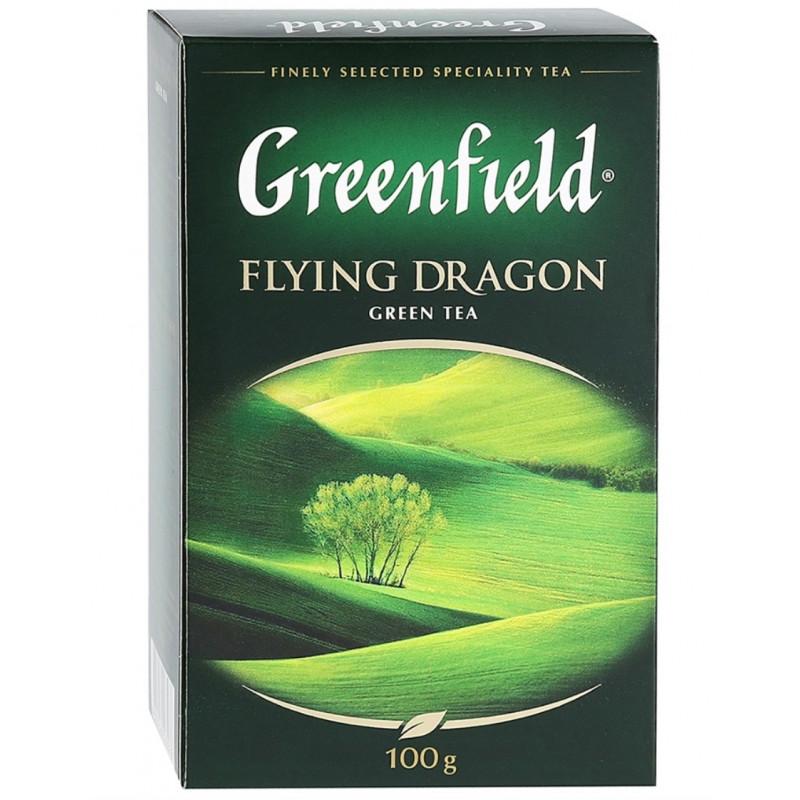 Зеленый чай листовой Greenfield Flying Dragon, 100 гр