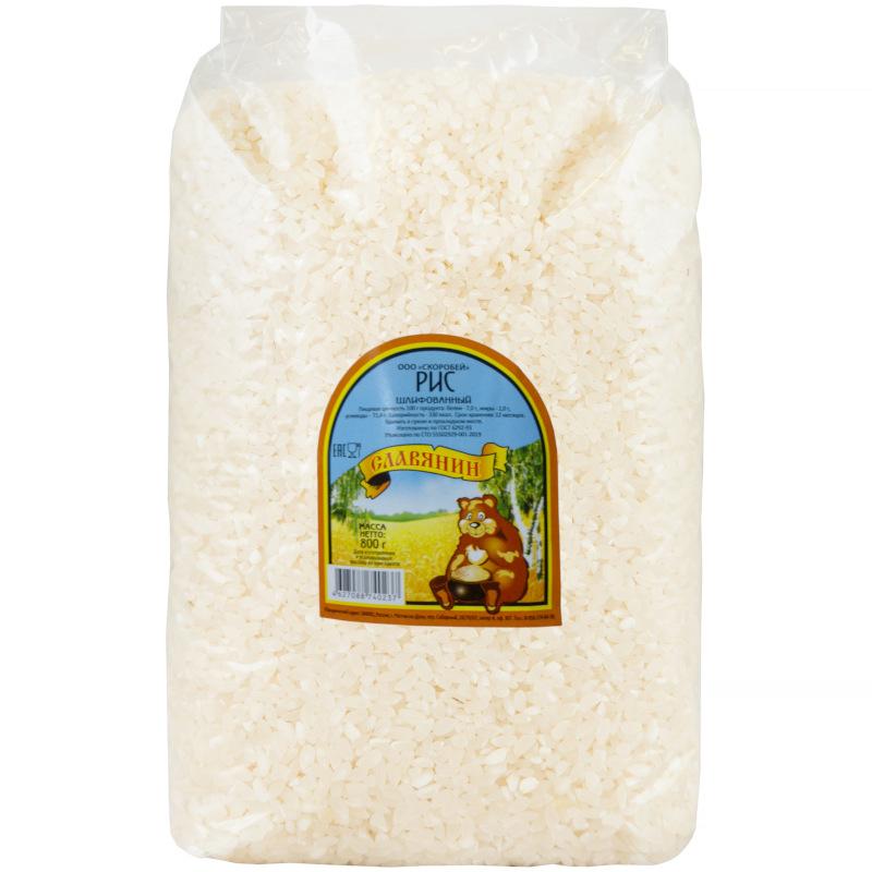 Рис круглый Славянин, 800гр