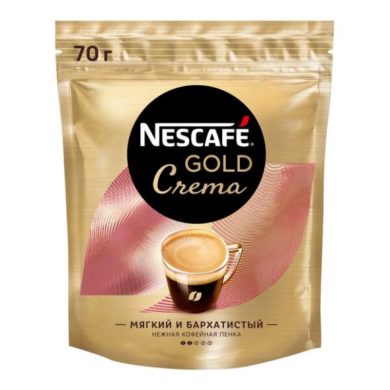 Кофе NESCAFE GOLD Крема растворимый, 70г