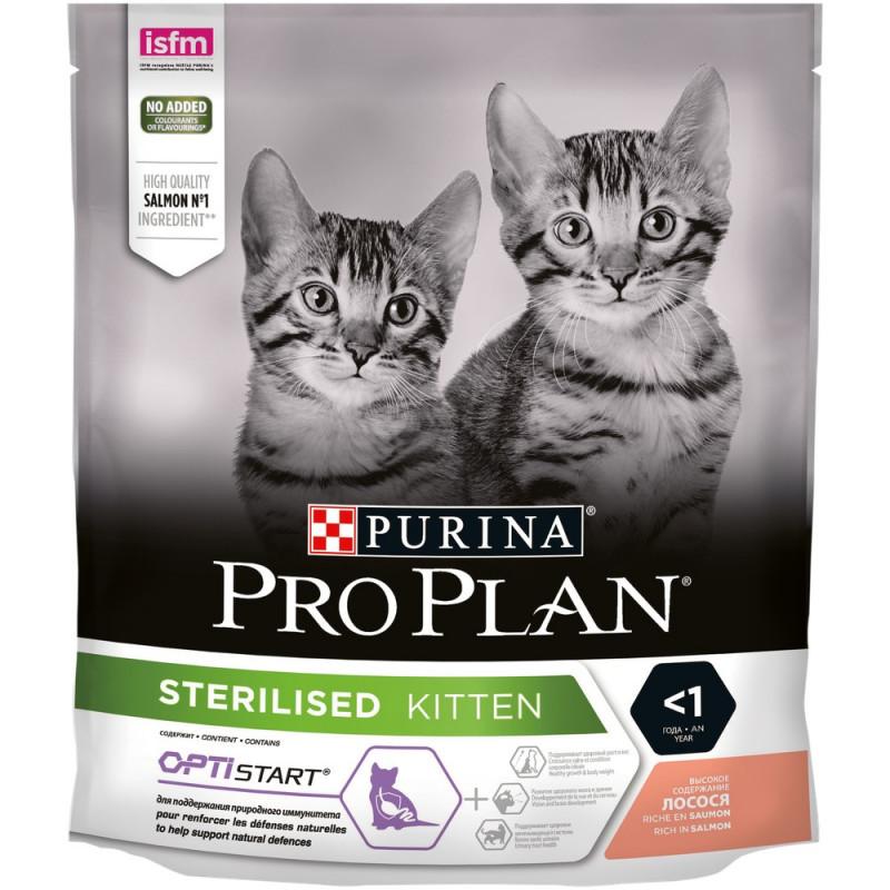 Сухой корм PRO PLAN для стерилизованных кошек с Лососем, 400 гр