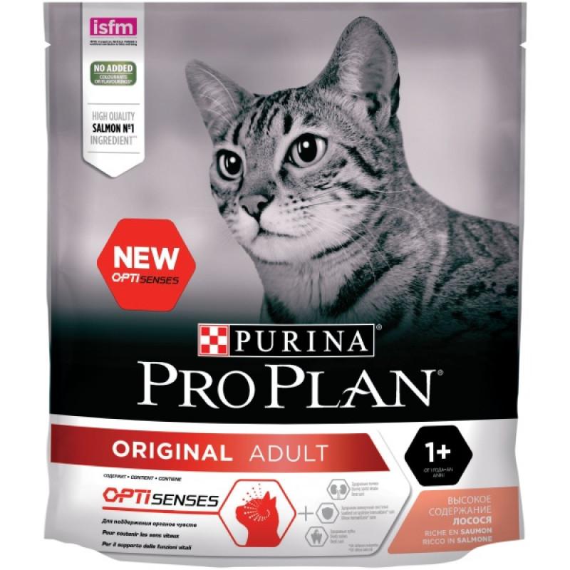 Сухой корм Purina Pro Plan для взрослых кошек с лососем, 400 гр