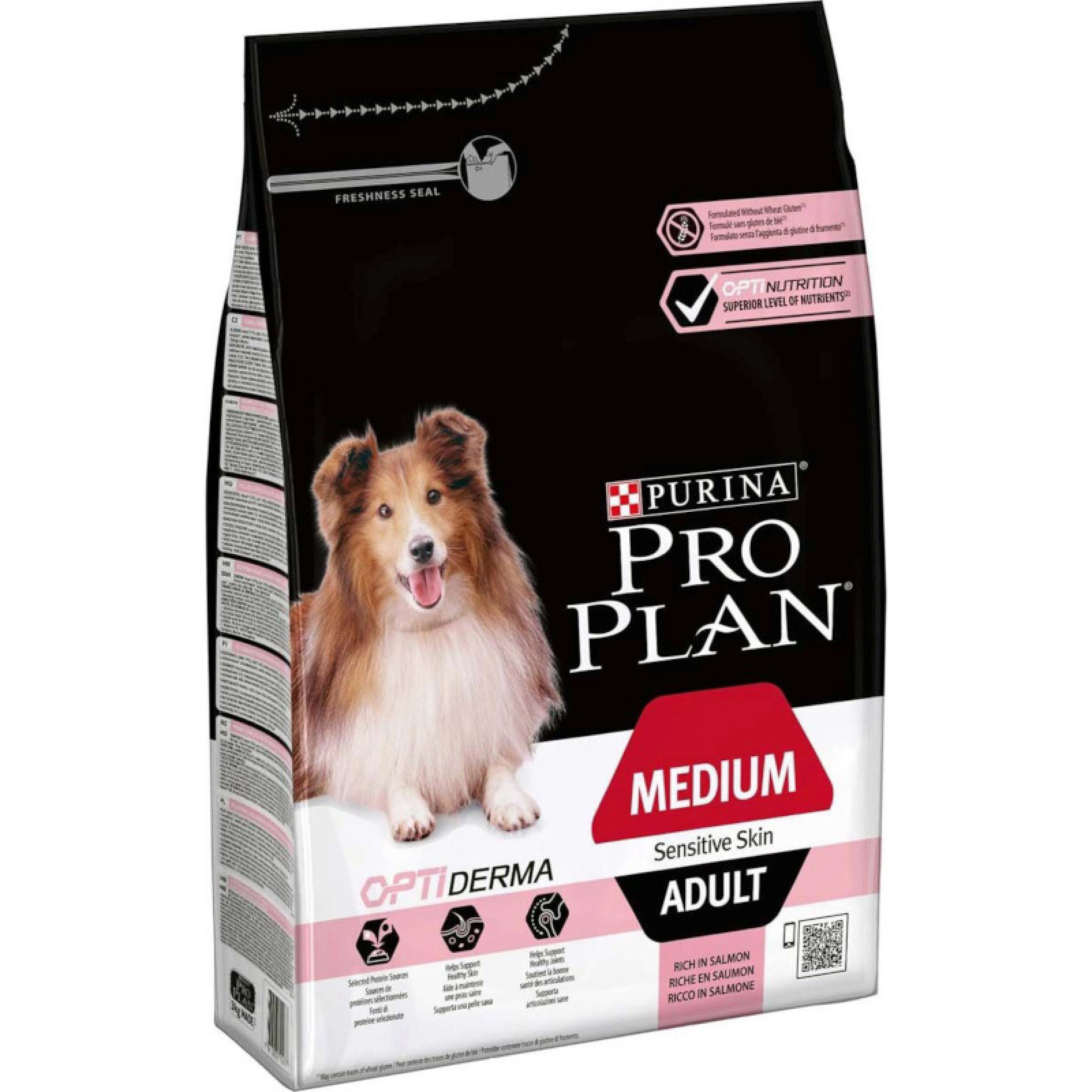 Сухой корм Pro Plan для взрослых собак средних пород с чувствите