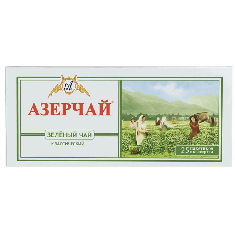 Чай зеленый Азерчай в пакетиках, 25шт