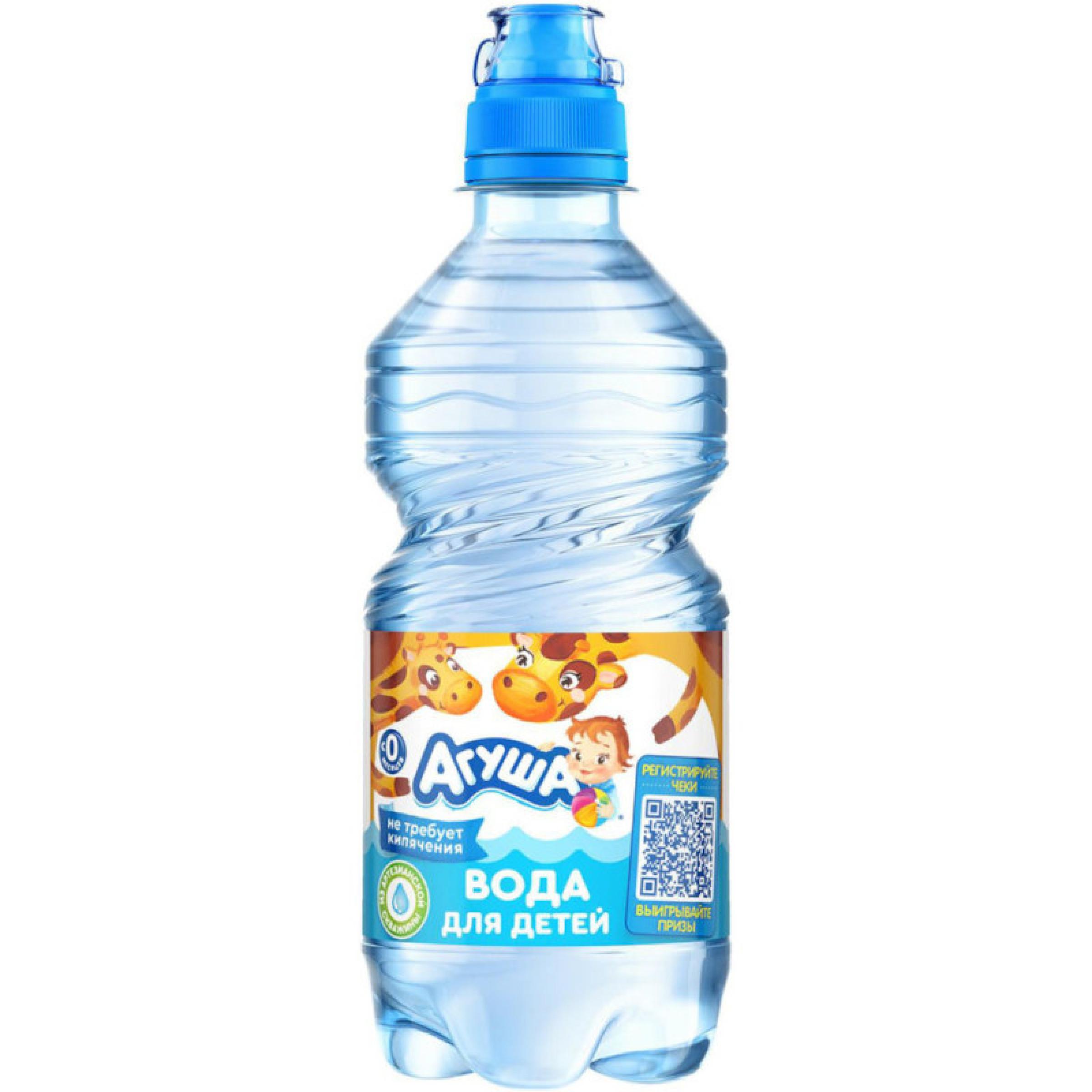 """Вода """"Агуша"""" детская питьевая, 0,33 л"""
