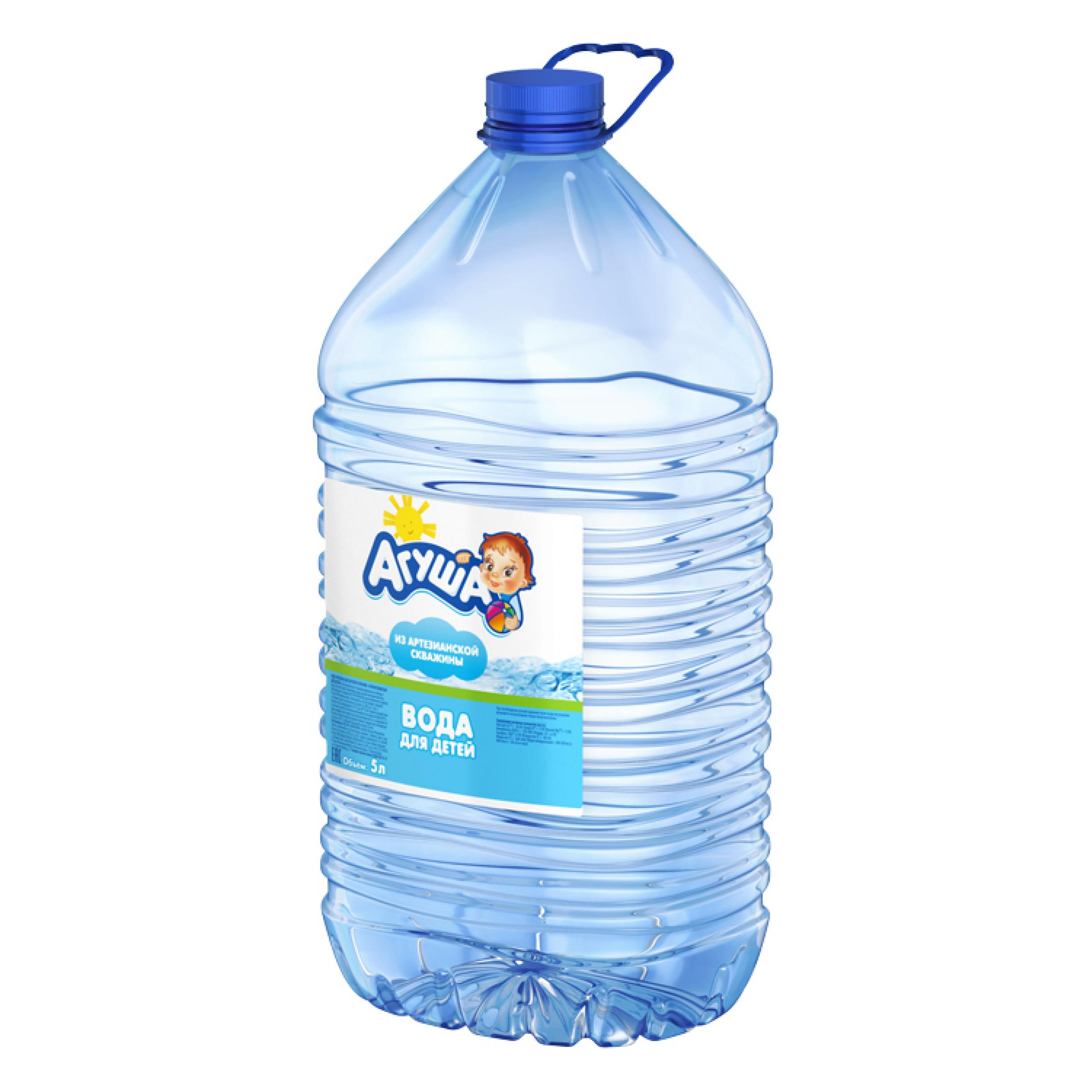 Детская питьевая вода Агуша, 5л