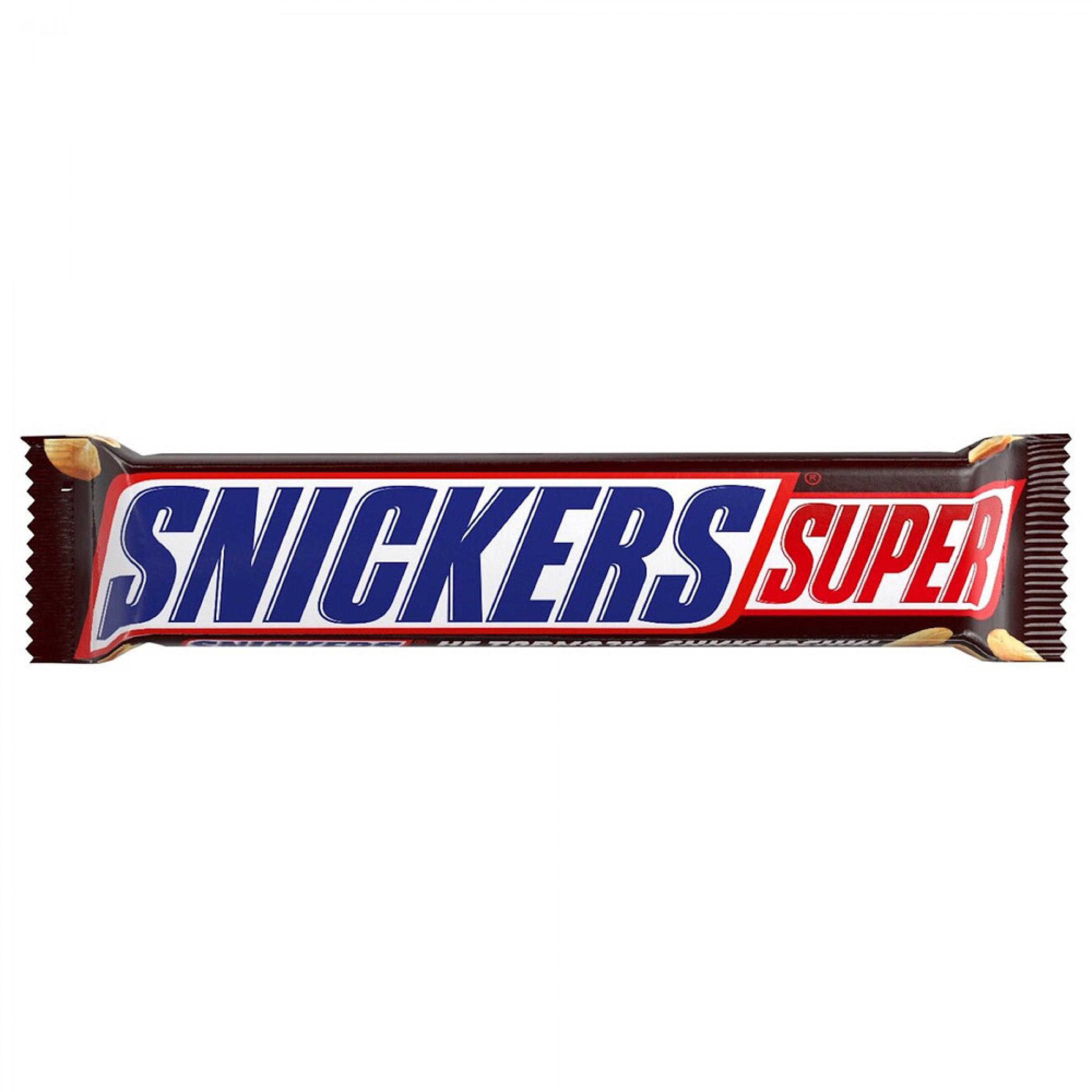 Шоколадный батончик Snickers Super, 95гр