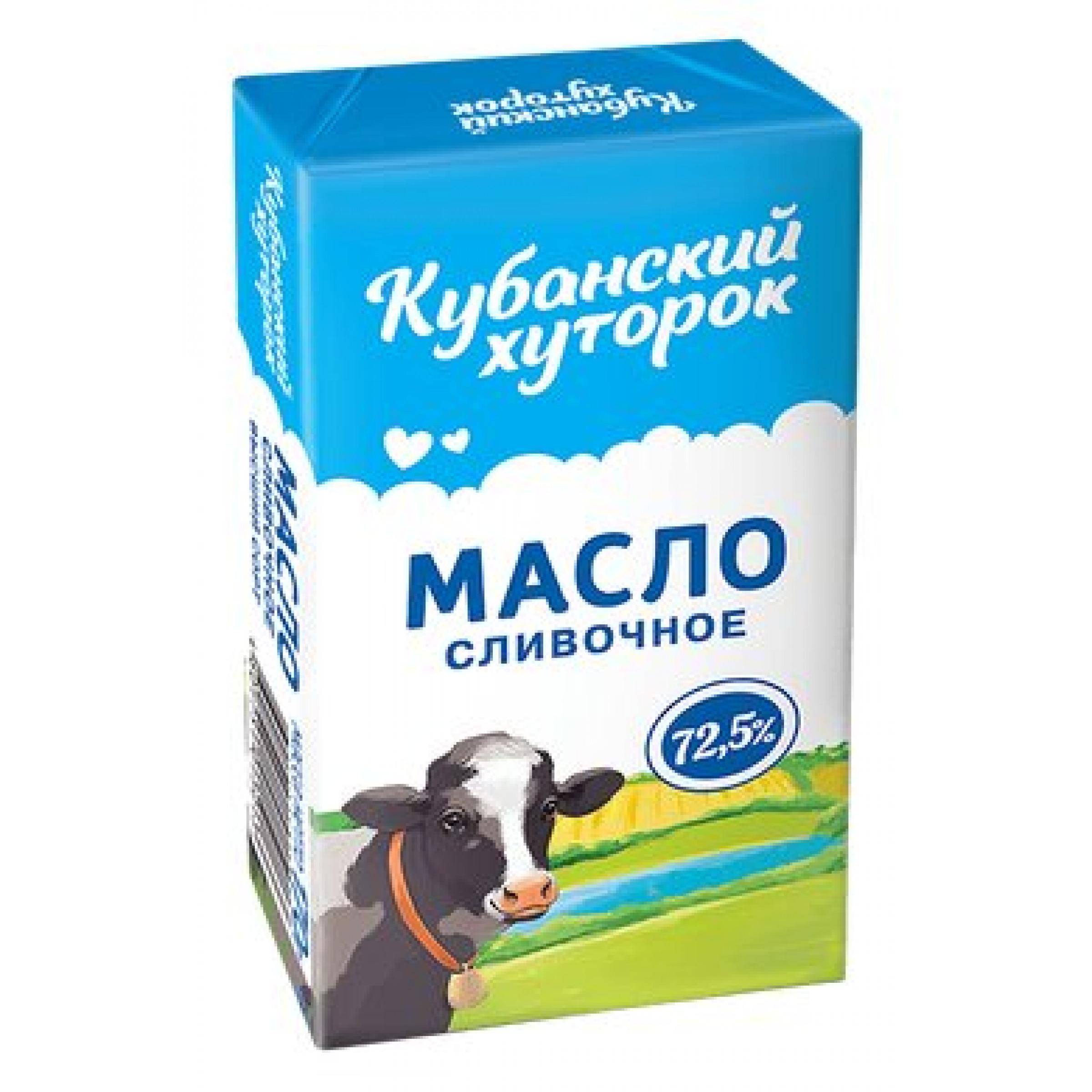 """Масло """"Кубанский хуторок"""" 72, 5% Крестьянское, 170гр."""
