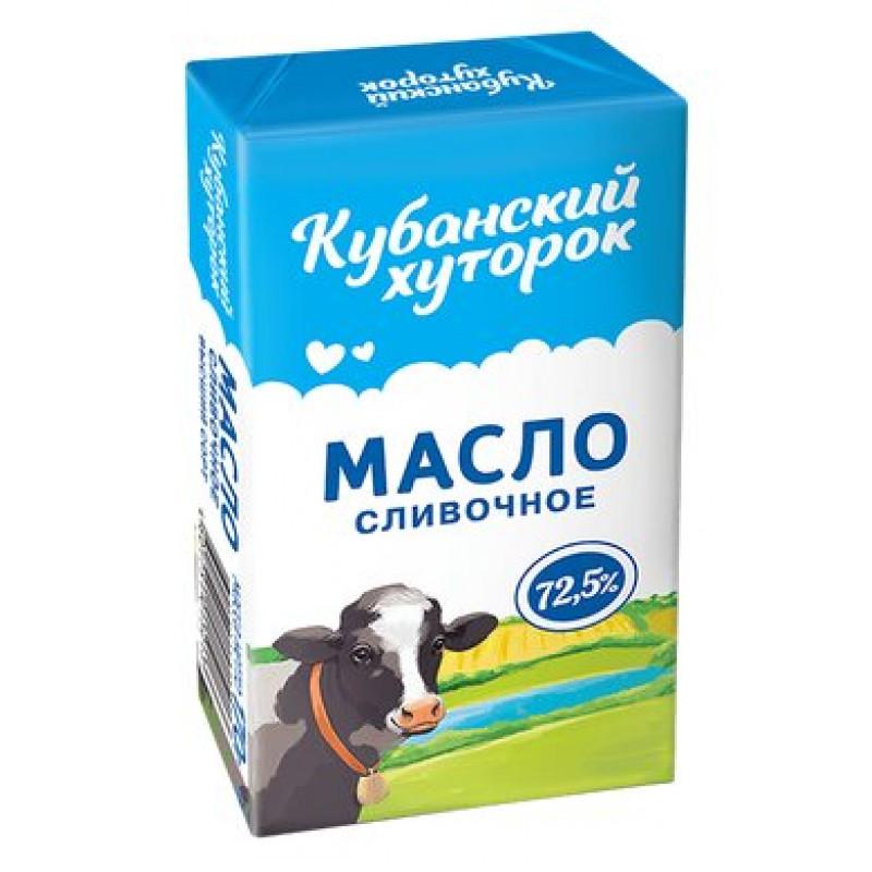 Масло сливочное Крестьянское Кубанский хуторок 72, 5%, 170 гр