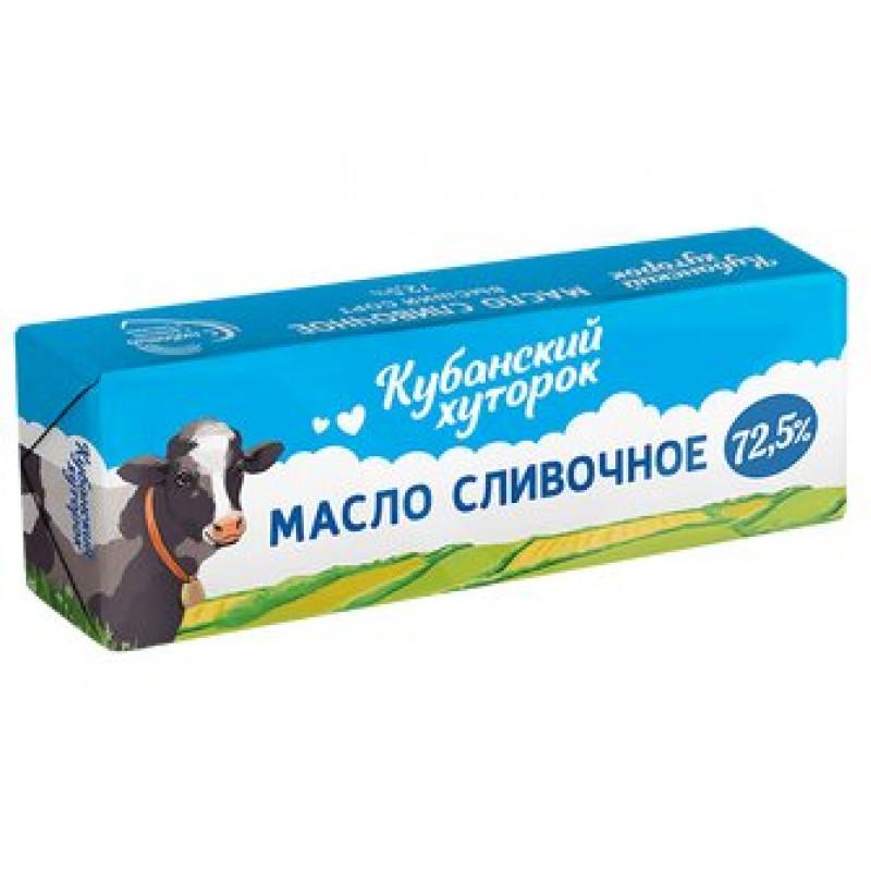 Масло сливочное Крестьянское Кубанский хуторок 72, 5%, 400 гр