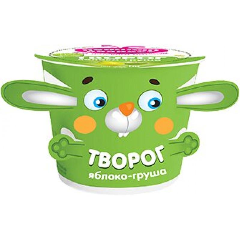 Творог детский фруктовый 4% Нежный возраст с грушей и яблоком, 100 гр