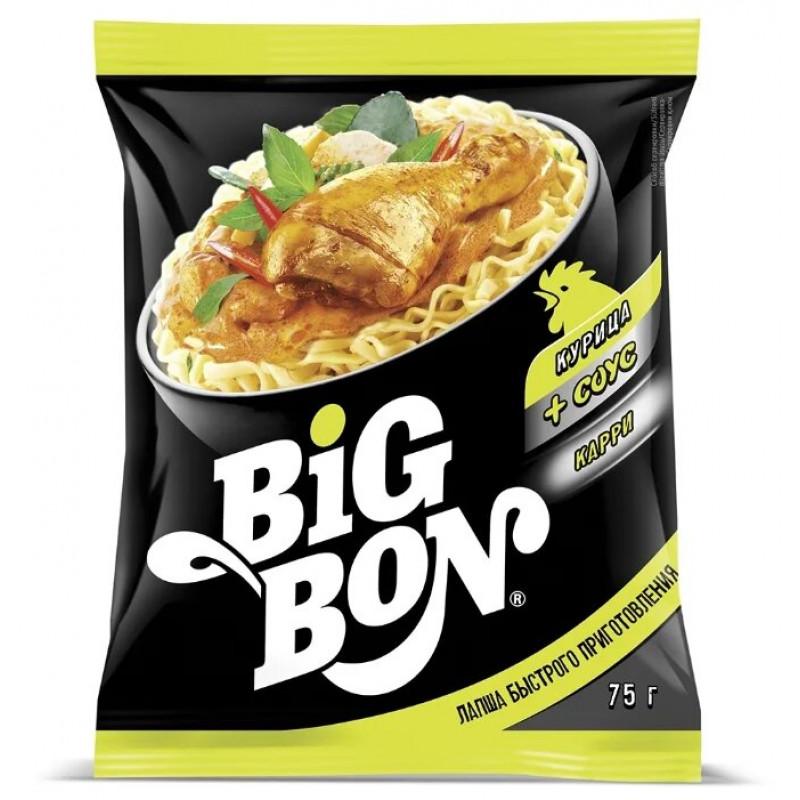 Лапша BIG BON курица+соус Карри, 75 гр