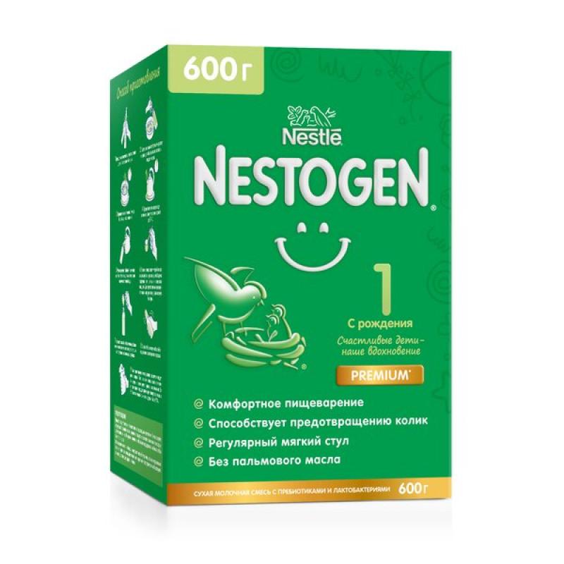 Смесь молочная с пребиотиками и лактобактериями 0-6 месяцев Nestogen 1, 600 гр