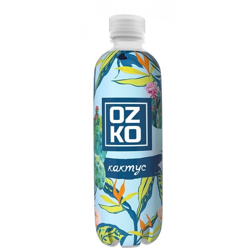 Напиток сильногазированный OZKO со вкусом кактуса, 0, 5л