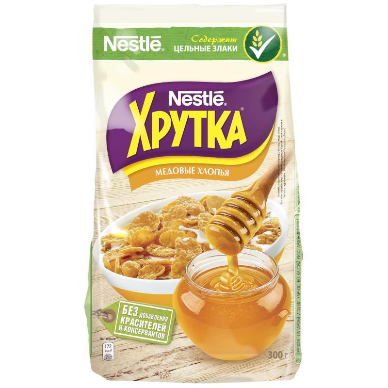 Готовый завтрак Хрутка медовые хлопья Nestle, 300 гр