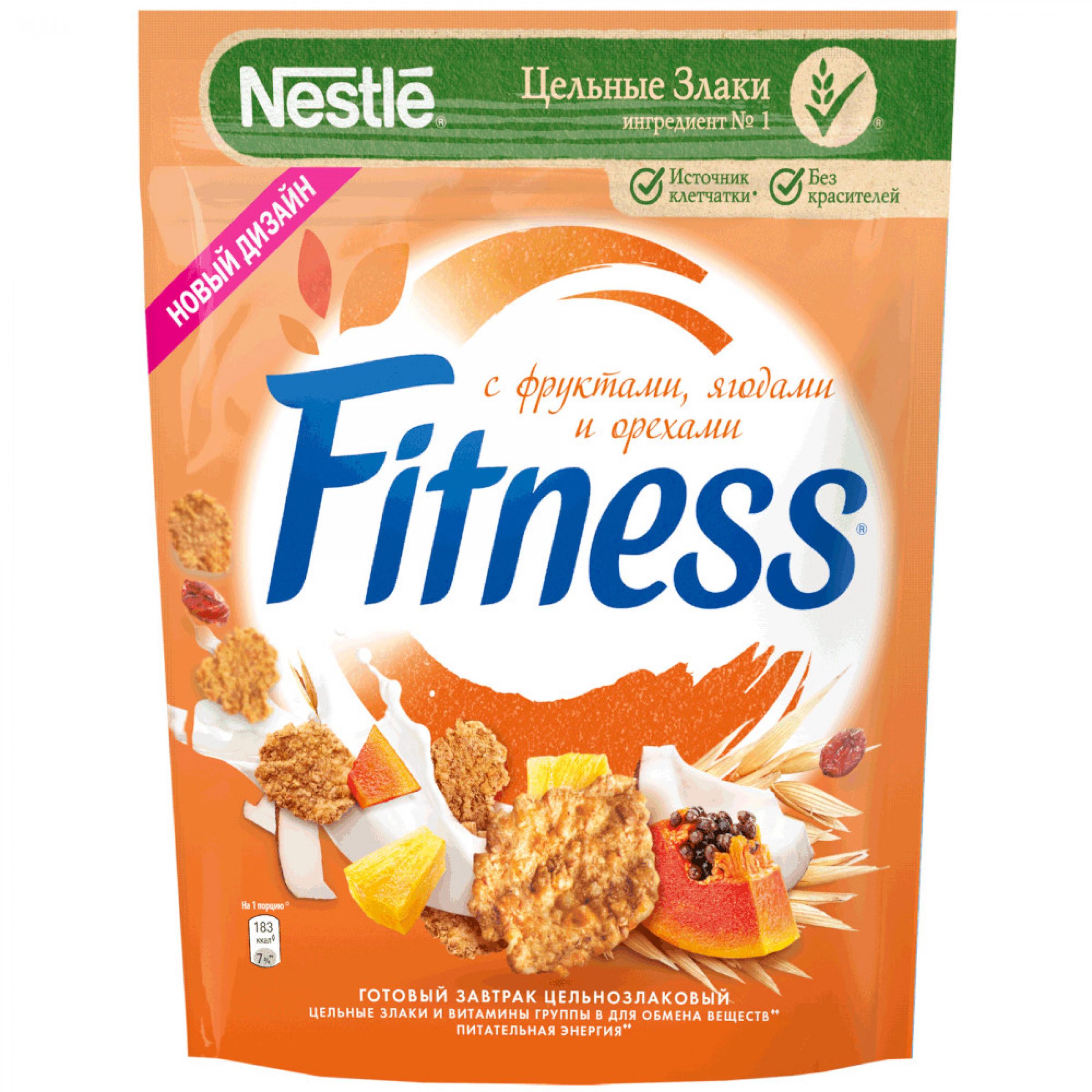 Готовый завтрак Fitness хлопья из цельной пшеницы с фруктами яго