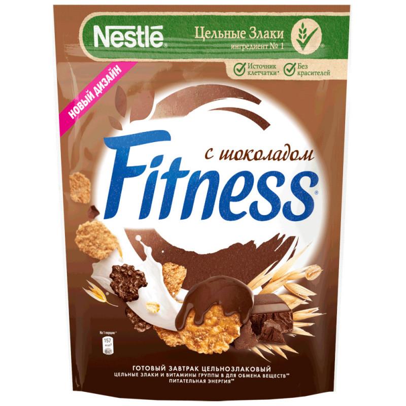 Готовый завтрак Fitness Хлопья из цельной пшеницы с темным шокол