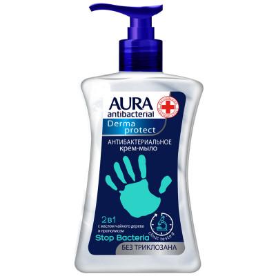Крем-мыло антибактериальное AURA Derma Protect, 250 мл