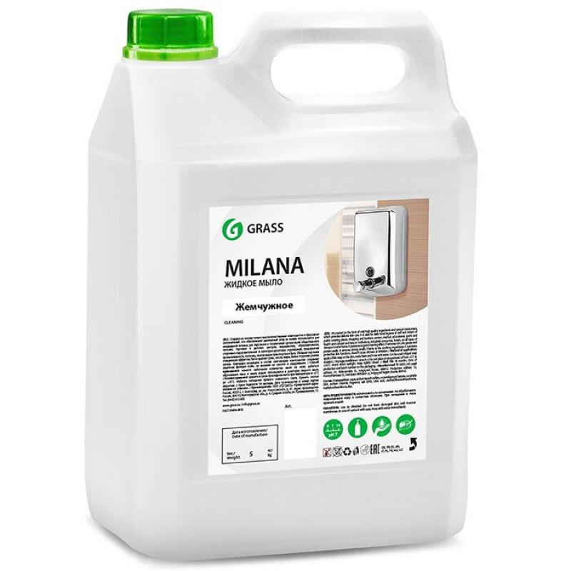Жидкое крем-мыло GRASS Milana жемчужное, 5 л