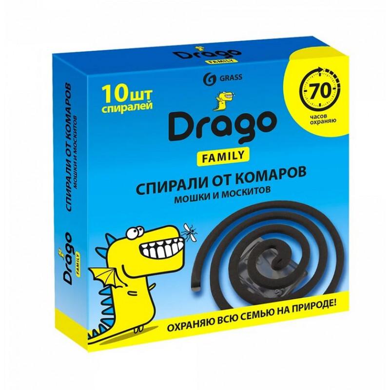 Спираль от комаров-эффект Grass Drago, 10 шт