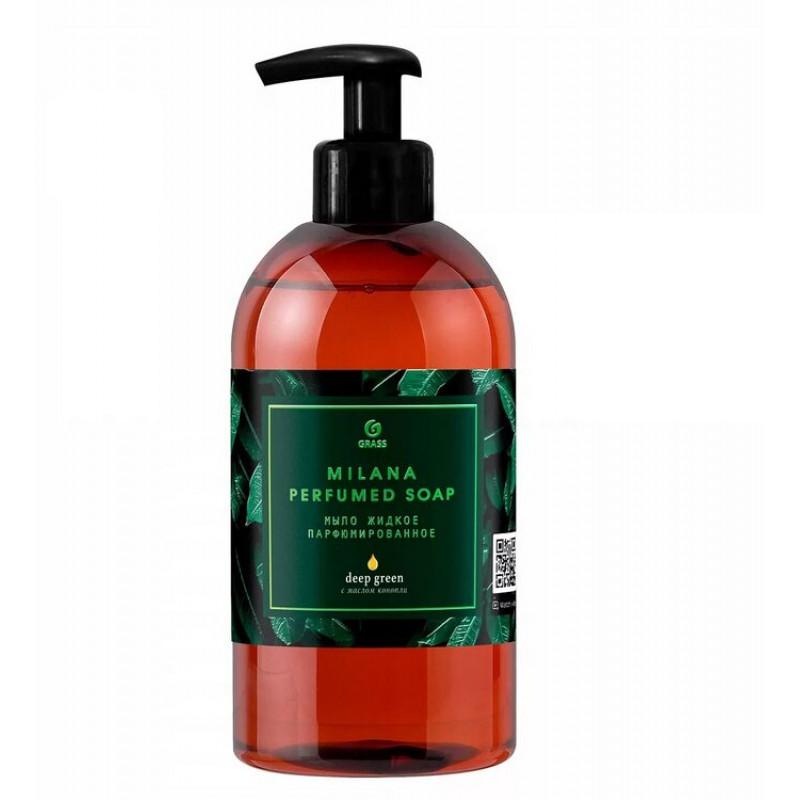 Мыло жидкое парфюмированное GRASS Milana Green Deep, 300 мл