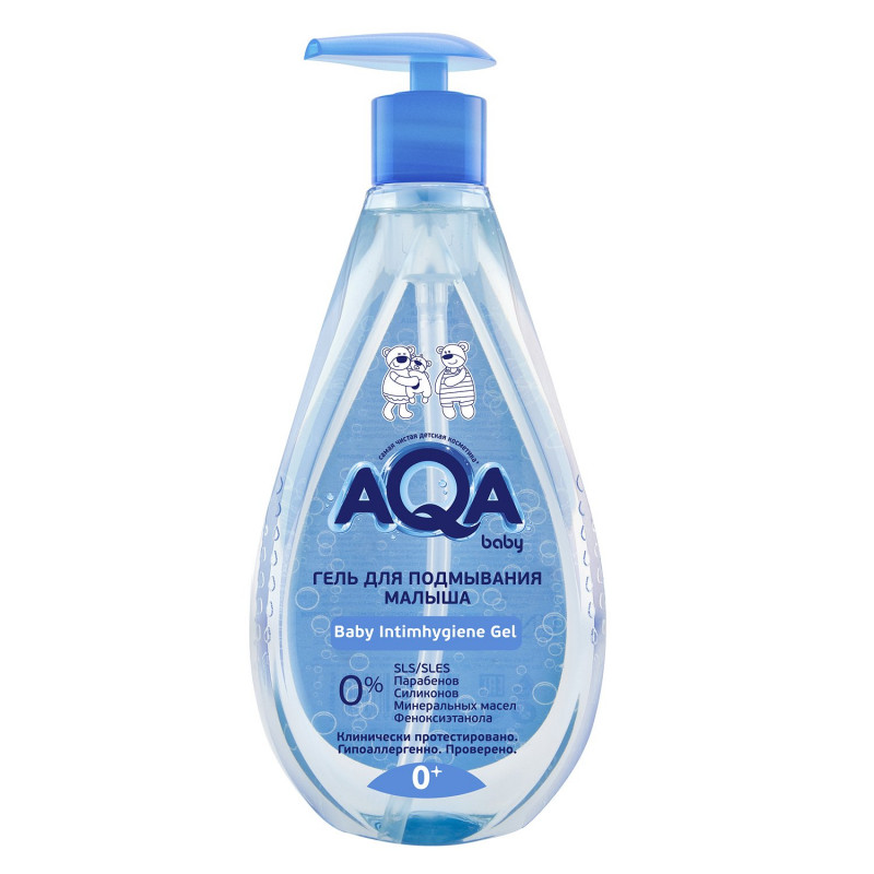 Гель для подмывания малыша 0 м+ AQA baby, 250 мл