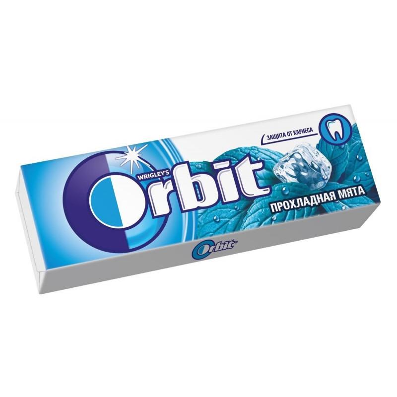 Жевательная резинка Orbit без сахара Прохладная мята, 13, 6 гр