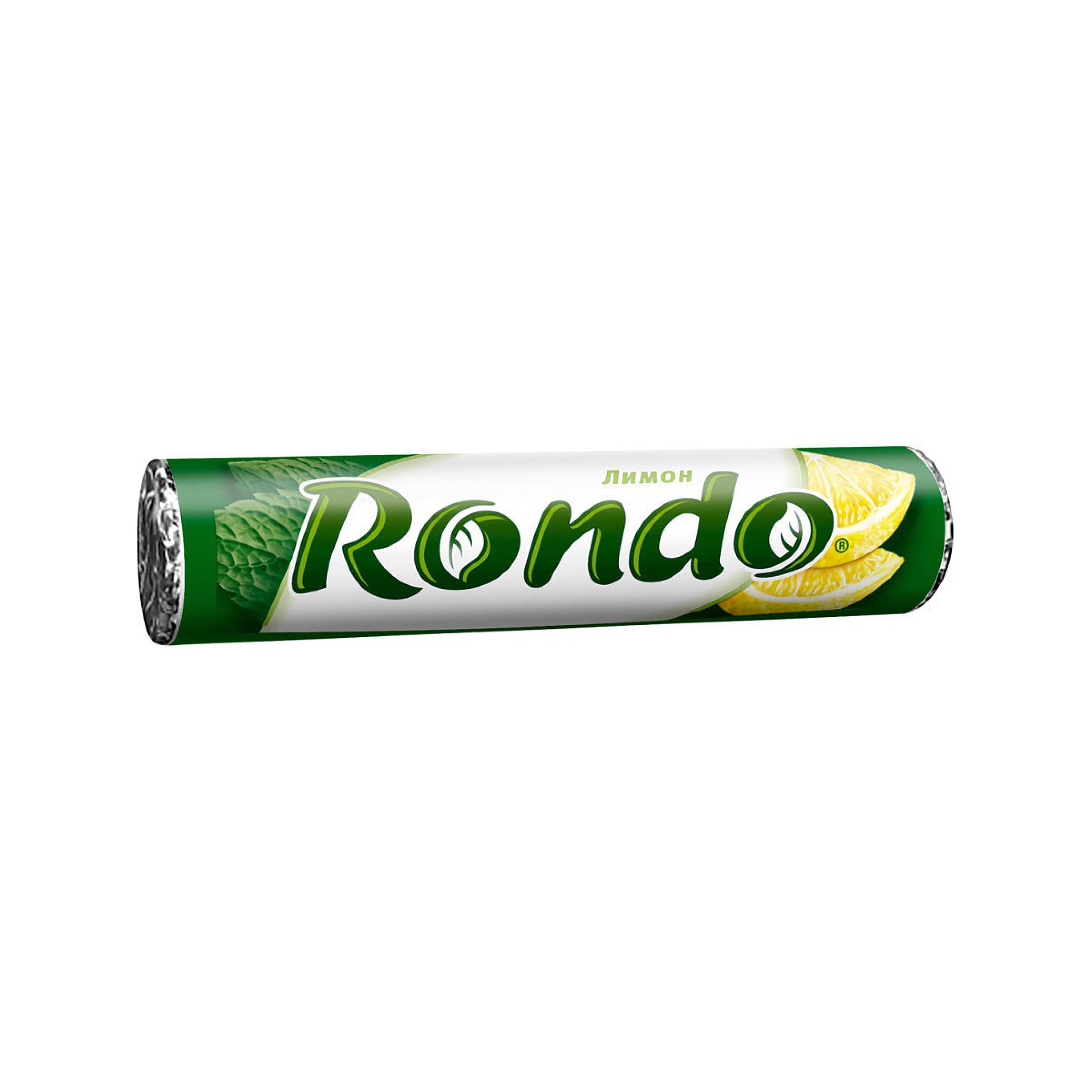 Конфеты мятные Rondo с ароматом лимона и мяты, 30 гр