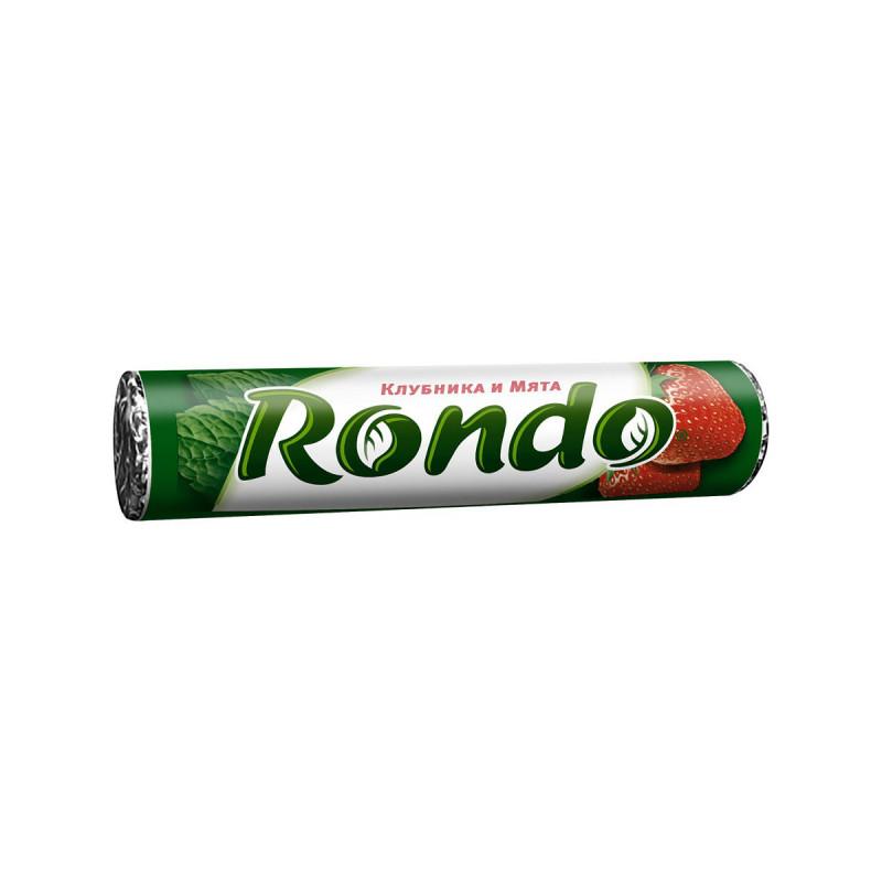 Конфеты мятные Rondo с ароматом клубника и мяты, 30 гр