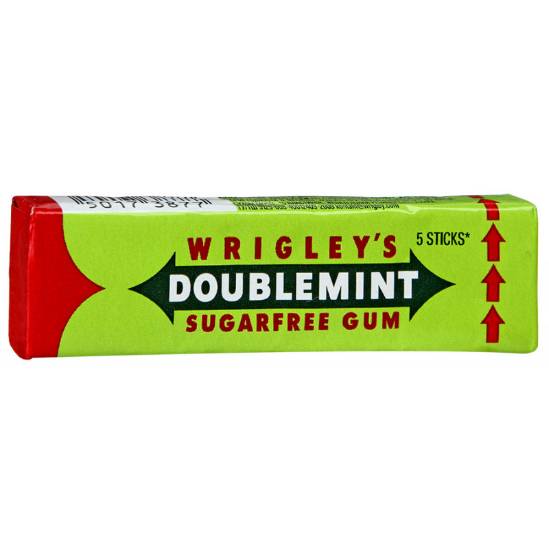 Жевательная резинка Wrigley Doublemint без сахара, 13 гр