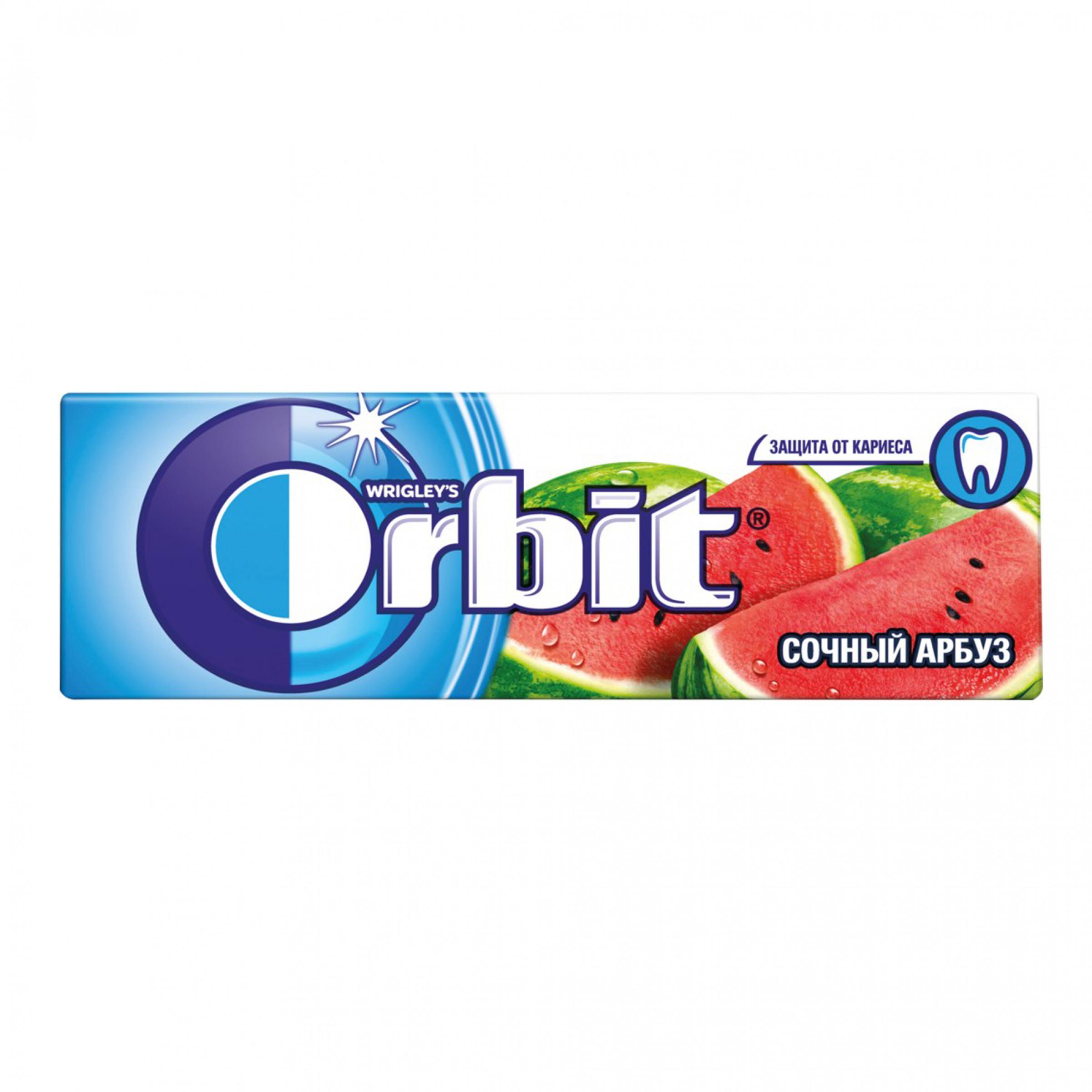 Жевательная резинка Orbit Сочный арбуз без сахара, 13. 6 гр