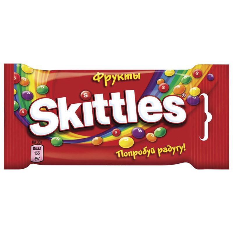 Жевательные конфеты Skittles Фрукты, 38 гр