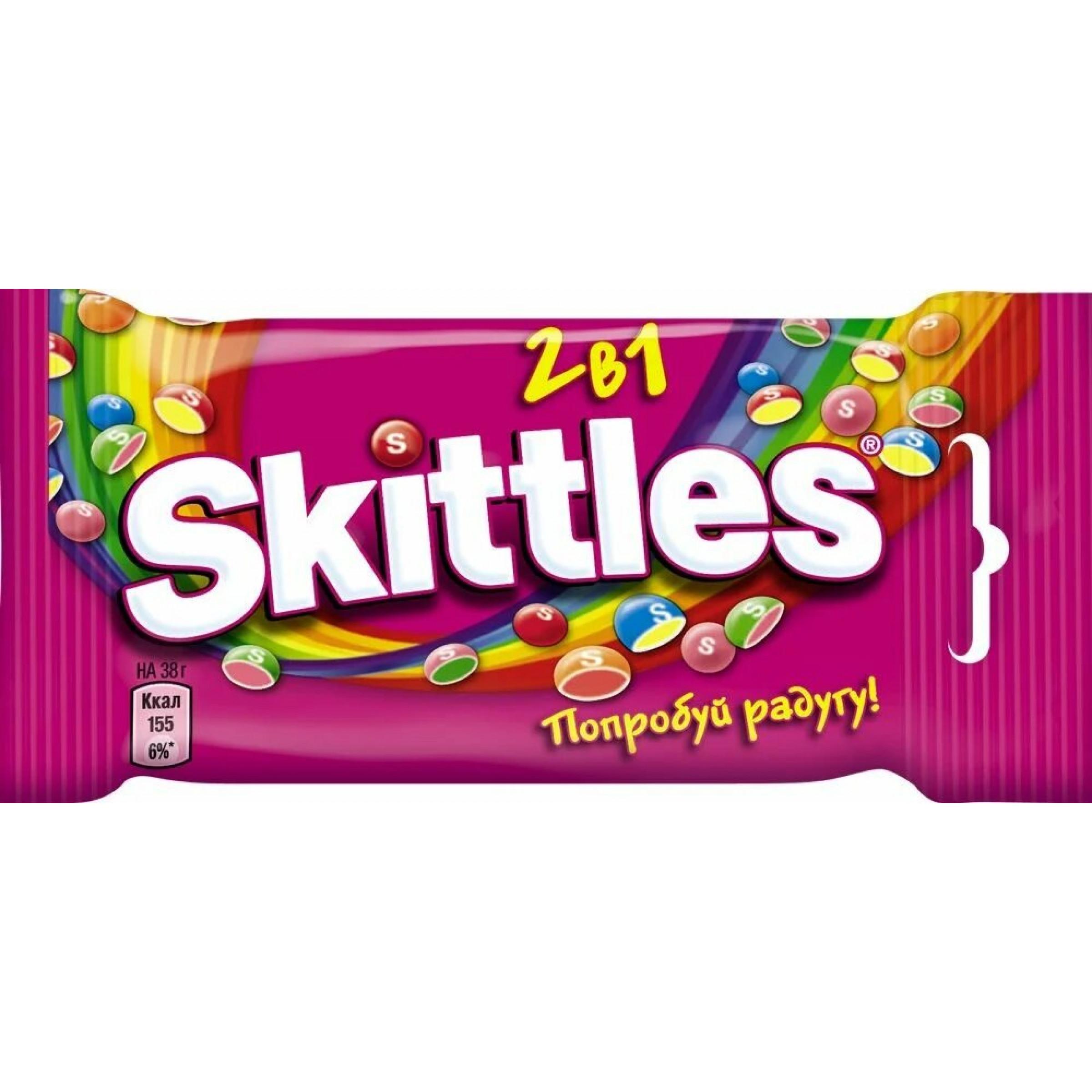 Драже Skittles Вкус 2 в 1, 38 гр