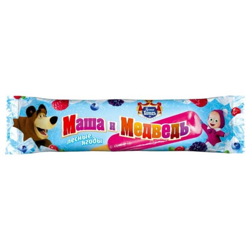 Мороженое Маша и Медведь Фруктовый Лед с ароматом лесных ягод Русский Холод, 60 гр